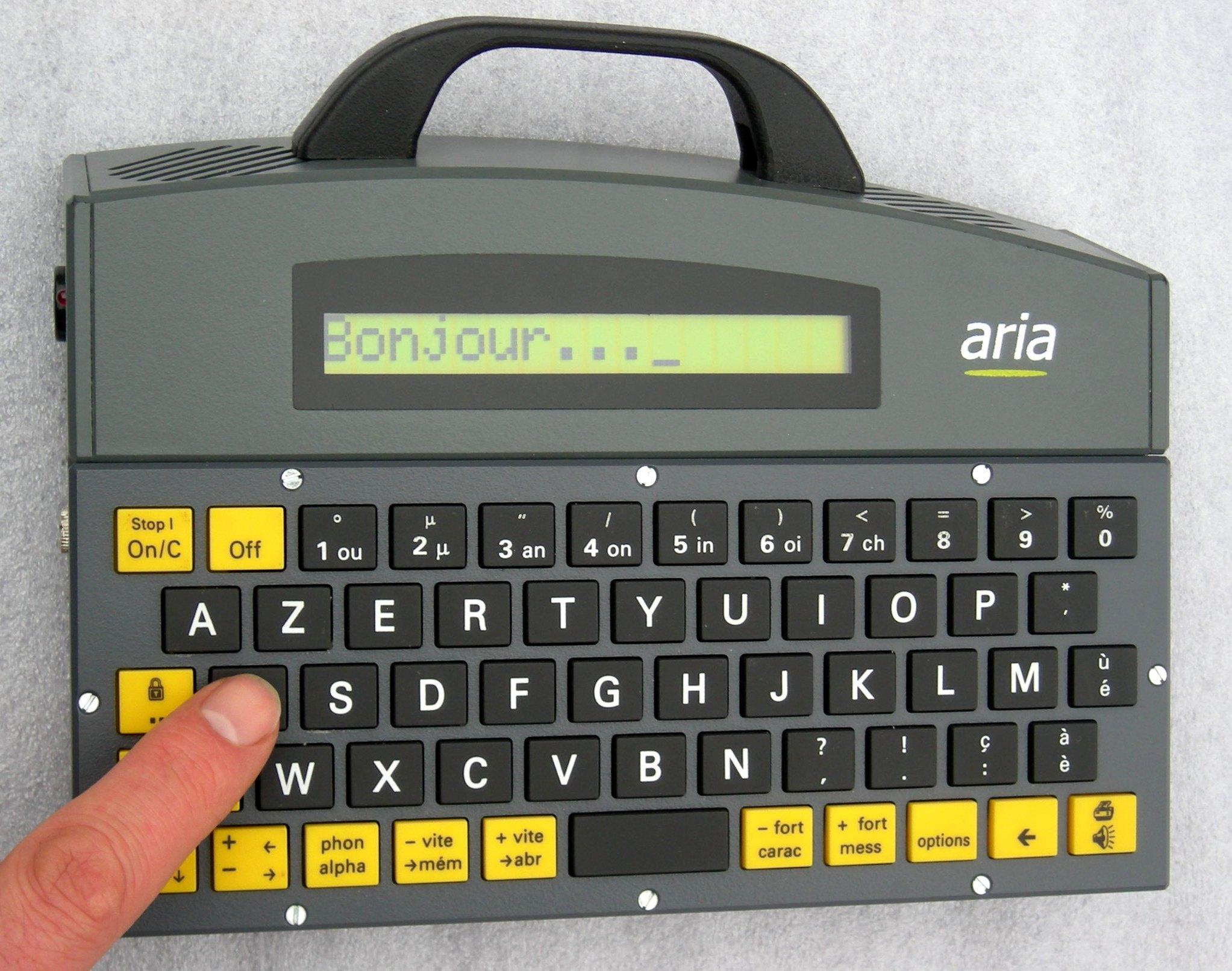 Alpha à clavier manuel